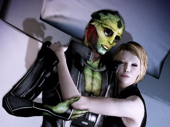 Winnifred Shepard and Thane Krios